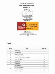 Bank Loan Management System Full Report Pdf