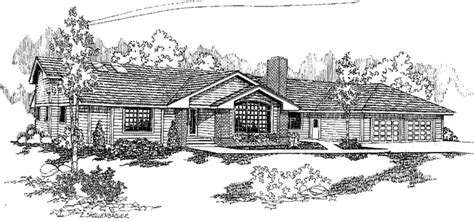 Contemporary Style House Plan 3 Beds 2 5 Baths 2187 Sq