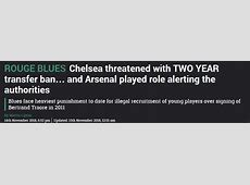 Chelsea transfer ban has nothing to do with Arsenal