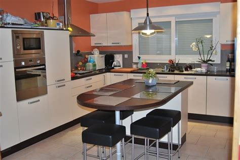 cuisine moderne avec ilot central cuisine ilot central table manger galerie avec cuisine