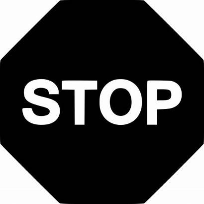 Stop Sign Icon Signs Pause Play Danger