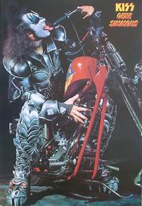 "KISS ""GENE SIMMONS LICKING MOTORCYCLE"" POSTER FROM ASIA ..."