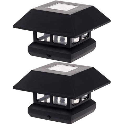 solar powered lights home depot greenlighting 4 in x 4 in solar powered integrated led