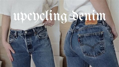 Upcycling Thrifted Denim  The Sweetest Peach  Youtube
