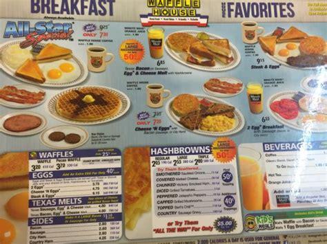Menu/all-star Breakfast Special @ Waffle House!