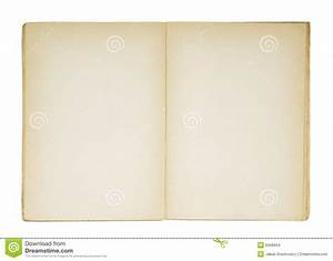 Open Old Blank Book Stock Images - Image: 8408604