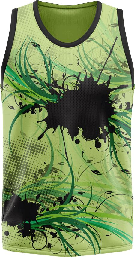 floral design sublimated basketball jersey team colours