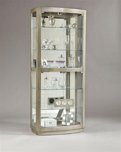 curio cabinets with glass doors pulaski platinum glass door curio 21396 homelement com