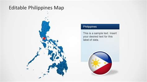 powerpoint map templates editable philippines map template for powerpoint slidemodel