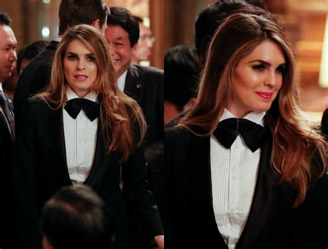 Trump's communications head Hope Hicks wears tuxedo ...