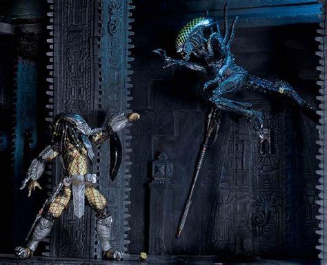 Neca Avp Battledamaged Celtic Predator Vs Grid Alien