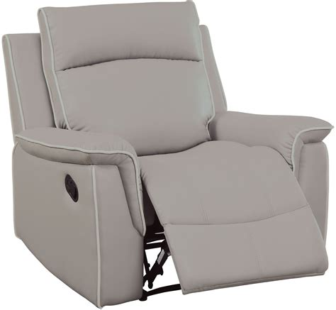 salome light gray recliner chair from furniture of america