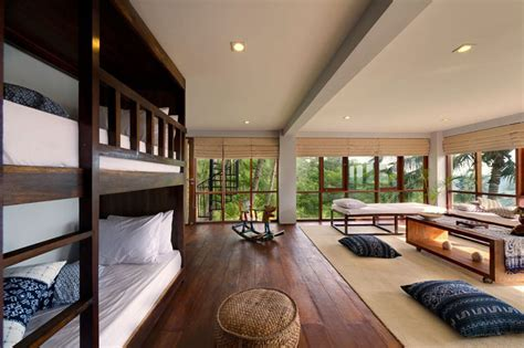 contemporary tropical hillside villa  indonesia