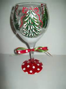 christmas tree wine glass by flybuttercreations on etsy
