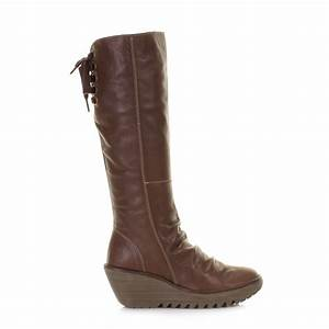 Womens Brown Leather Boots Knee High | Mount Mercy University