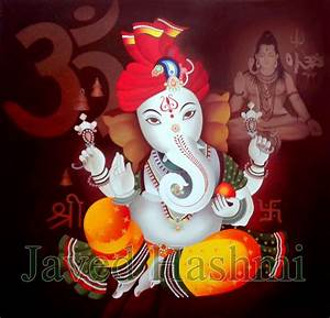Indian Art Hosting: Ganesh Art: Reproduction Oil Painting