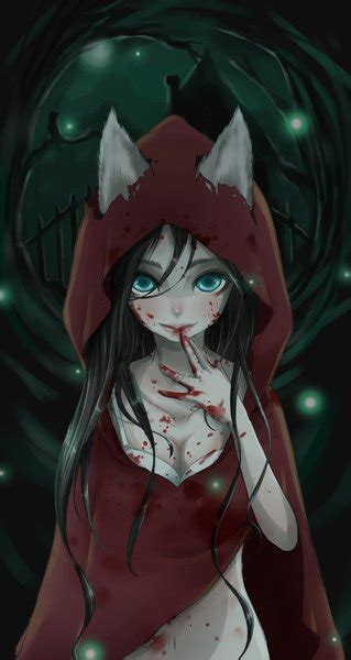 anime picture  red riding hood  red riding