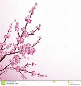 Cherry Blossom Tree Painting | Cherry Blossom Tree Branch ...