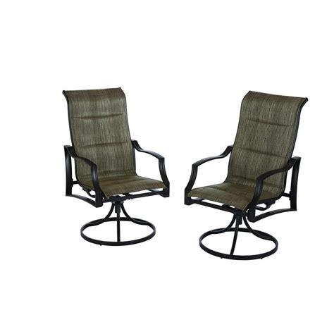 Stack Sling Patio Lounge Chair by Hton Bay Statesville Padded Sling Patio Lounge Swivel