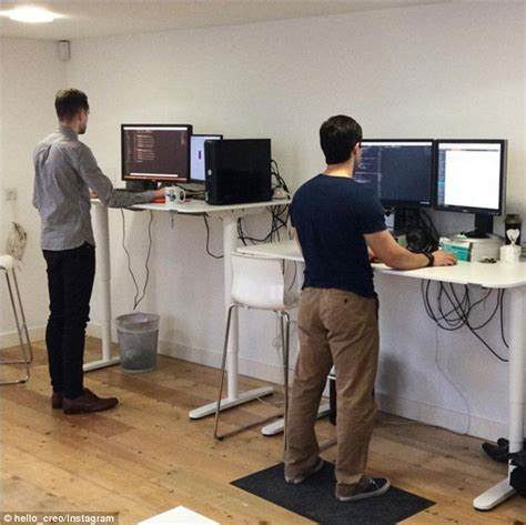 how to use a standing desk research finds that workers who use sit stand desks are