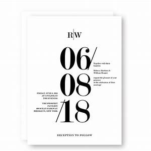 modern black and white bold wedding invitation wip055 With modern wedding invitations chennai