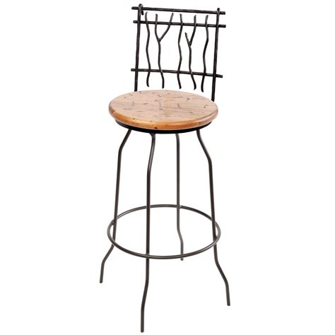 rustic wrought iron sassafras counter stool 25 in seat