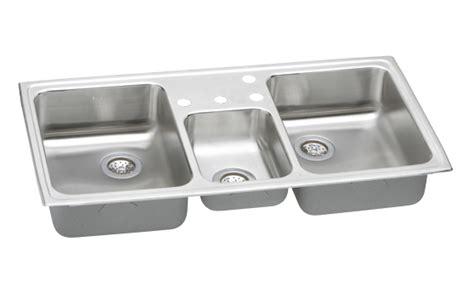 three bowl kitchen sink elkay cmr4322 4 gourmet bowl kitchen 6105