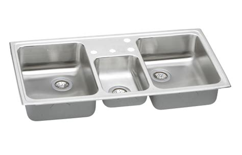 Elkay Cmr43224 Gourmet (celebrity) Triple Bowl Kitchen