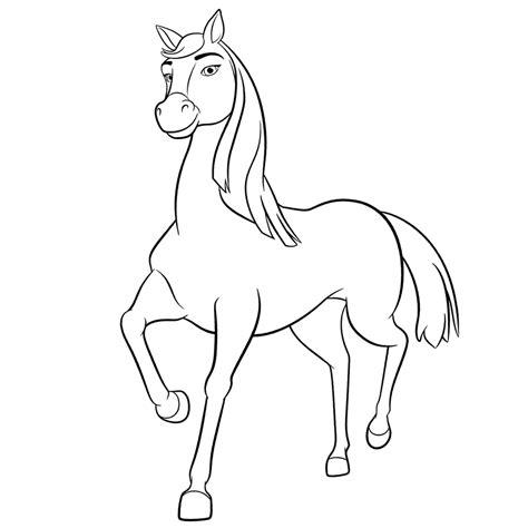 Kleurplaat Paarden Spirit by Leuk Voor Chica