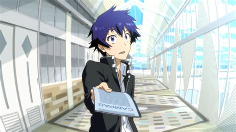 Blue Haired Anime Boy Wallpaper - jacket anime nisekoi blue hair raku ichijou blue