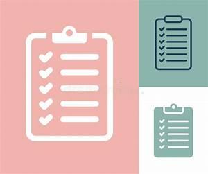 Survey Checklist Icon. Survey Checklist Flat Stock ...