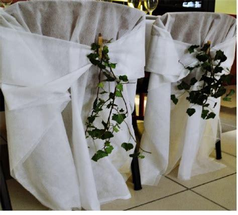noeud chaise mariage 100 housses de chaises en voile d hivernage épais