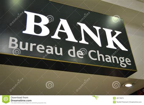 bureau de change business plan bank sign bureau de change stock photo image 48779875