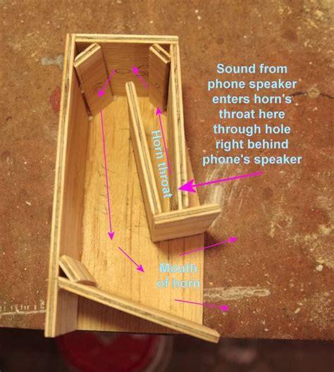 folded horn passive phone speaker speaker box design