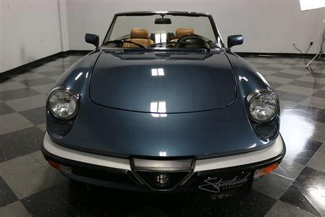 1988 alfa romeo spider veloce for sale 76623 mcg
