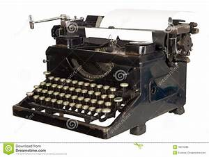 Vintage Typewriter On White Background Royalty Free Stock ...