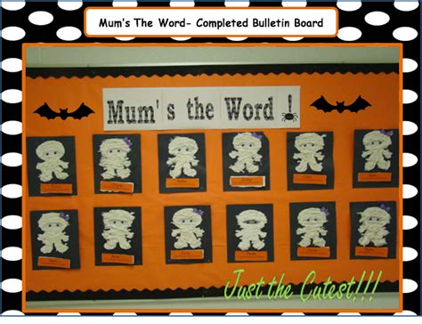 Mum's The Word- Bulletin Board Ready- Print And Go Fun