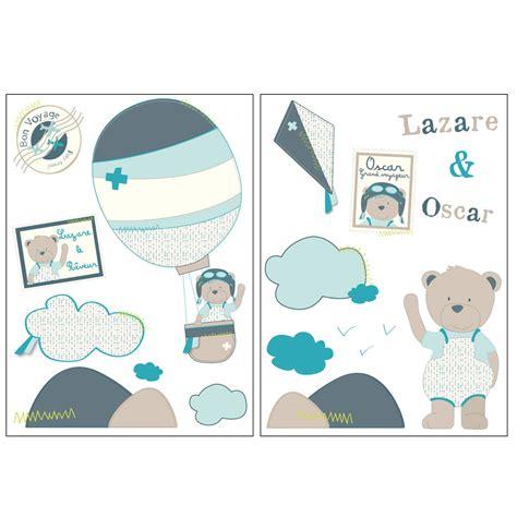 chambre sauthon bleu lazare stickers muraux bleu de sauthon baby déco stickers