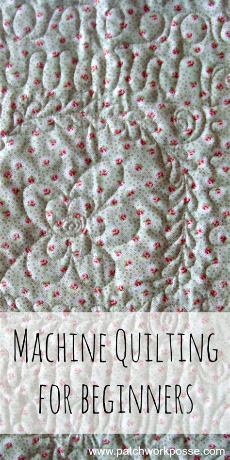 quilting for beginners machine quilting