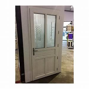 Porte d39entree pvc aspect fermiere a la belle fenetre for Porte d entrée fermière