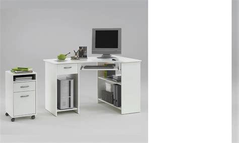 bureau d angle informatique bureau d 39 angle informatique blanc avec caisson en option agnan