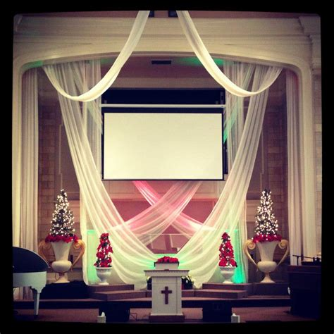 swags church stage design ideas