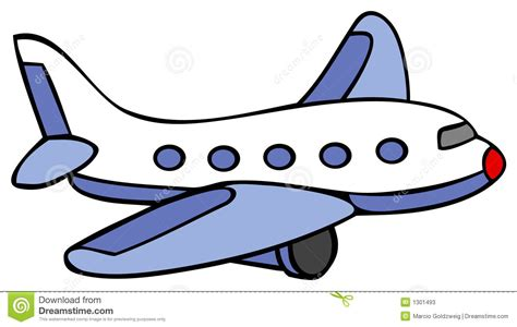 Cartoon Line Art For An Airplane