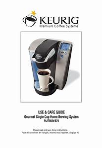 Keurig B70 Platinum Manual