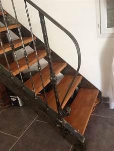 Escalier Fer Et Bois : 17 meilleures id es propos de rampe escalier fer forg ~ Dailycaller-alerts.com Idées de Décoration