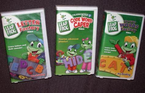 2000 vhs letters sounds words n learn ebay leap frog lote de cinta vhs letra de c 243 digo de f 225 brica 27625
