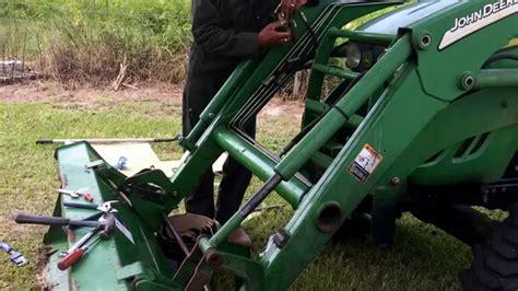 replacing  john deere  hydraulic bucket seals youtube