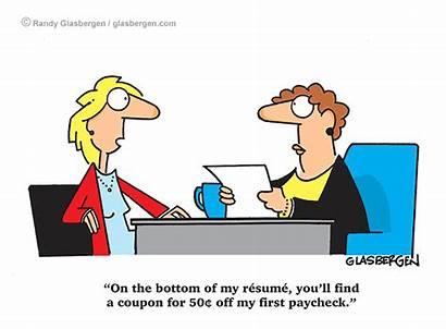 Cartoons Glasbergen Retail Cartoon Resume Paycheck Coupon
