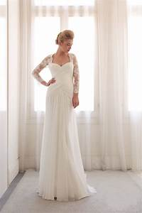 2015 lace long sleeve boho vintage wedding dresses beach With affordable vintage wedding dresses