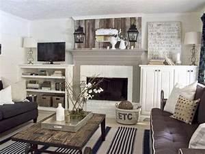 Rustic Chic Living Room Interior Design Pinterest